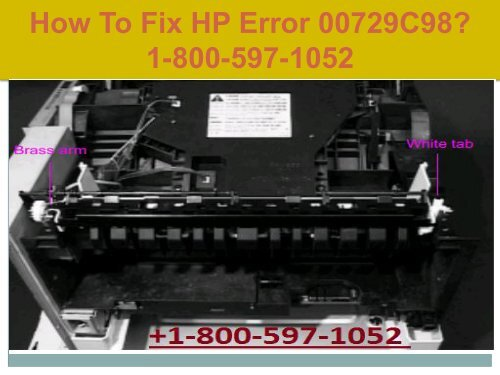 Call +1-800-597-1052 Fix HP Error 00729C98 | For HP help