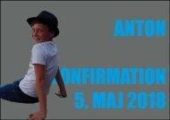 Anton, konfirmation, invitation