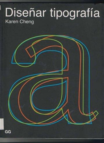 Karen Cheng - Diseñar Tipografía