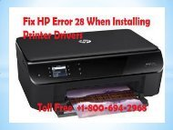 How To Fix HP Error 28 When Installing Printer Drivers?| 1-800-694-2968