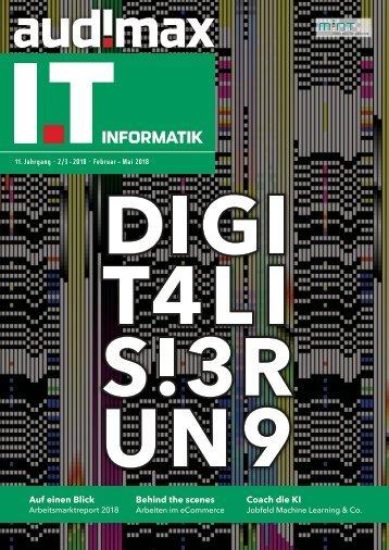 audimax I.T 2_3/2018 - Karrieremagazin für ITler