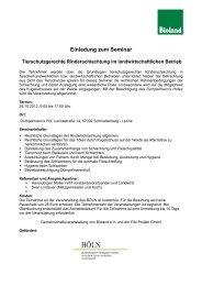 Einladung zum Seminar