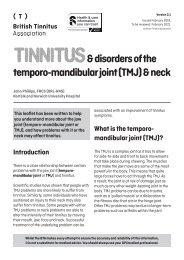 Tinnitus and TMJ Ver 2.1