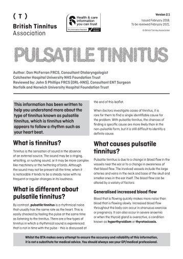 Pulsatile Tinnitus Ver 2.1
