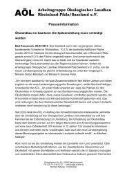 Arbeitsgruppe Ökologischer Landbau Rheinland-Pfalz ... - Bioland