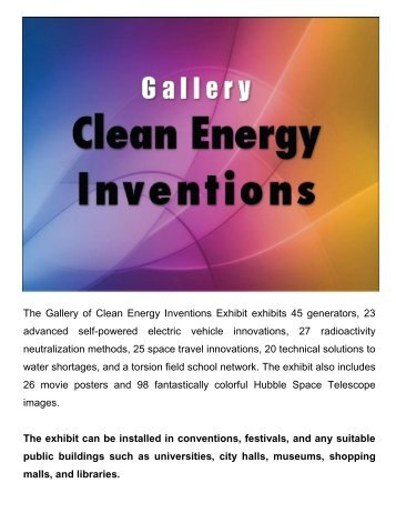 Gallery of Clean Energy Inventions Exhibit - with setup details