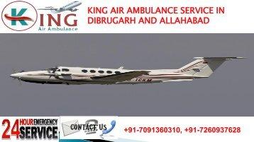 king air ambulance service in dibrugarh and allahabad