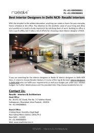 Interior Designers in Noida- Resaiki Interiors