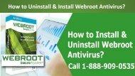 1-888-909-0535 Uninstall and install Webroot Antivirus
