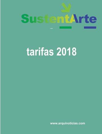 tarifario SustentArte  2018