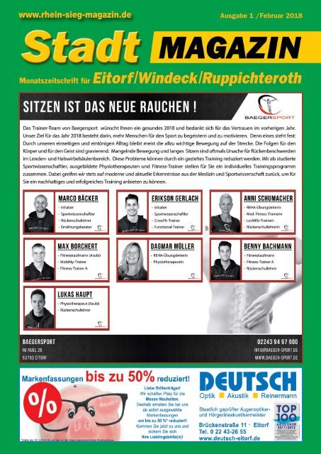 Eitorfer Stadtmagazin Januar 2018