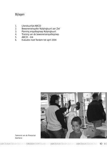 Bijlagen - Verbreding van bewonersbetrokkenheid - ABCD in de Kolpingbuurt Nijmegen - BIJLAGEN