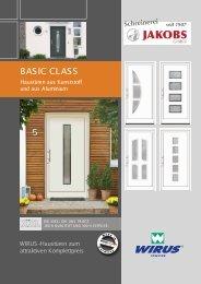 Wirus Haustüren aus Kunststoff und Aluminium