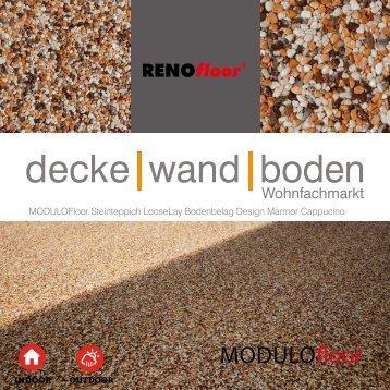RenoFloor MODULOFloor Marmor Cappucino