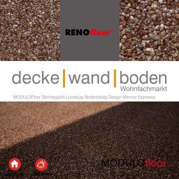 RenoFloor MODULOFloor Marmor Espresso