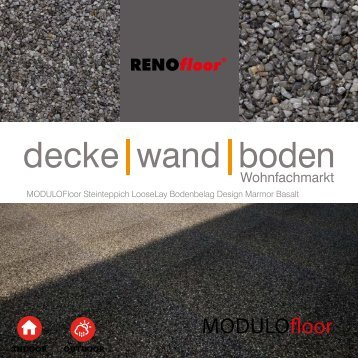 RenoFloor MODULOFloor Marmor Basalt
