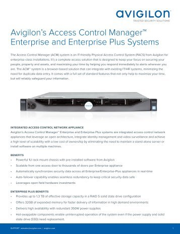Avigilon ACM Enterprise Appliance