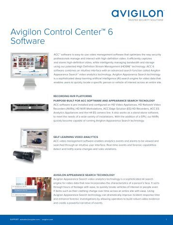 Avigilon ACC 6 Overview
