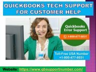 Get Instant Services by QuickBooks Customer Service +1-800-477-8031