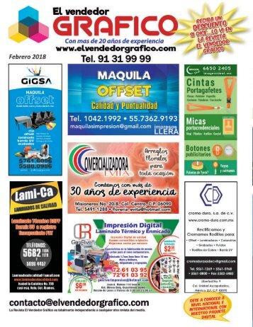 Revista El Vendedor Gráfico Febrero 2018