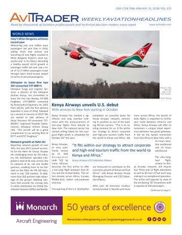 AviTrader Weekly News 2018-01-15
