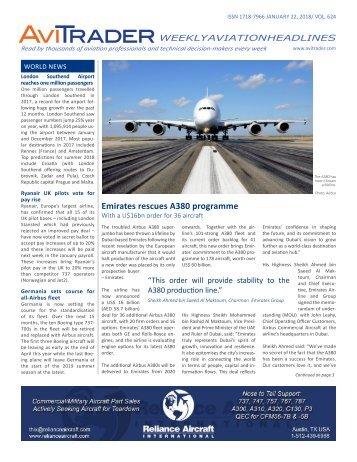 AviTrader Weekly News 2018-01-22