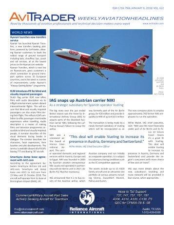 AviTrader Weekly News 2018-01-08