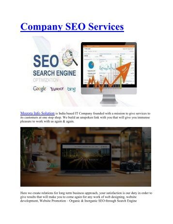 off page seo services packages