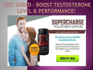 TestShred - Get Stronger Muscles Without Extra Work!