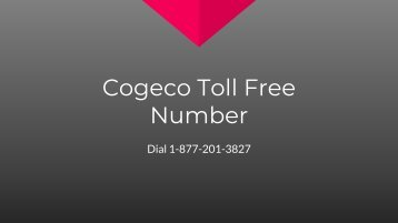 cogeco toll free number