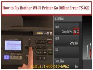 1-800-213-8289 Fix Brother Wi-Fi Printer Go Offline Error TS-02