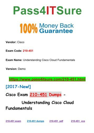 [2018 New] Latest Release Pass4itsure Cisco 210-451 Dumps PDF Question Description