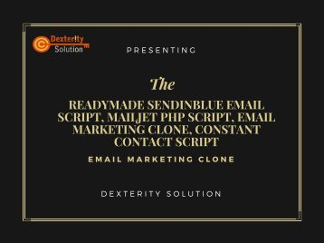 Readymade SendinBlue Email Script, Mailjet php script, Email marketing clone, Constant Contact script