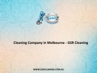 Cleaning Company in Melbourne - GSR Cleaning