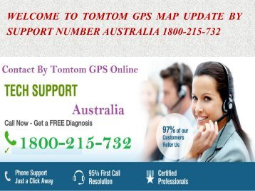 Tomtom GPS Map Renew By Support Number Australia 1800-215-732