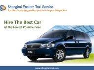 Car Rental Service in Shanghai