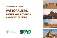 Pastoralism, Nature Conservation and Development