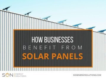 The Goodness of Solar Energy Solutions in Perth for Business