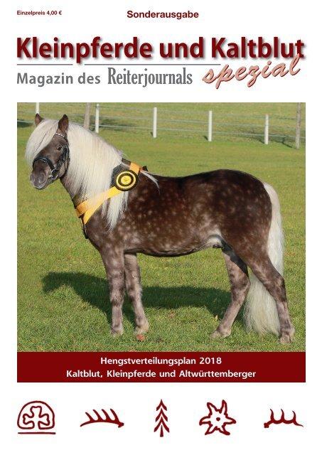 Kleinpferde und Kaltblut Spezial 2018 mit Hengstverteilungsplan