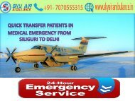 Sky Air Ambulance from Siliguri to Delhi under full Medical Team