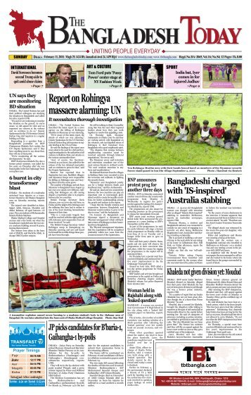 The Bangladesh Today (11-02-2018)