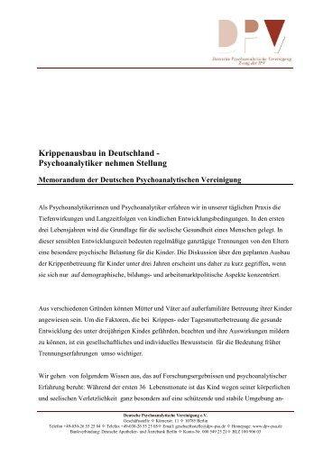 Memorandum Krippenaufbau DPV 12 12 07