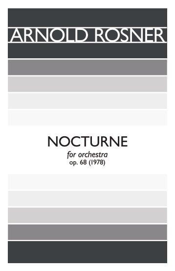 Rosner - Nocturne, op. 68