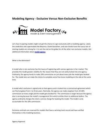 6 Model Factory model agency