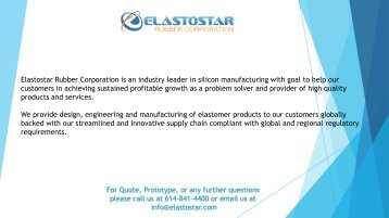 Silicone Rubber Shapes by Elastostar