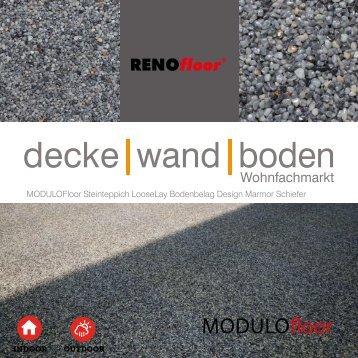 RenoFloor MODULOFloor Marmor Schiefer