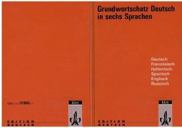 Grundwortschatz Deutsch in sechs Sprachen