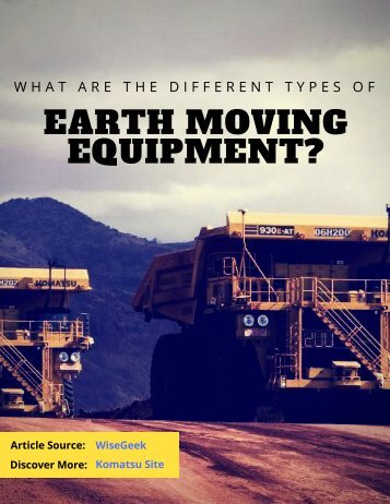 What are the Different Types of Earth Moving Equipment