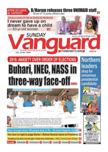 11022018 - 2019: ANXIETY OVER ORDER OF ELECTIONS - Buhari, INEC, NASS in three - way face off